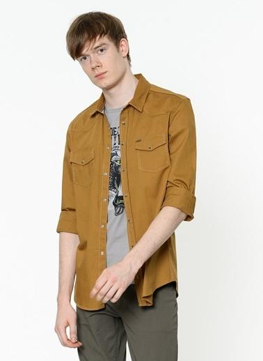 Lee Cooper Uzun Kollu Gömlek Hardal